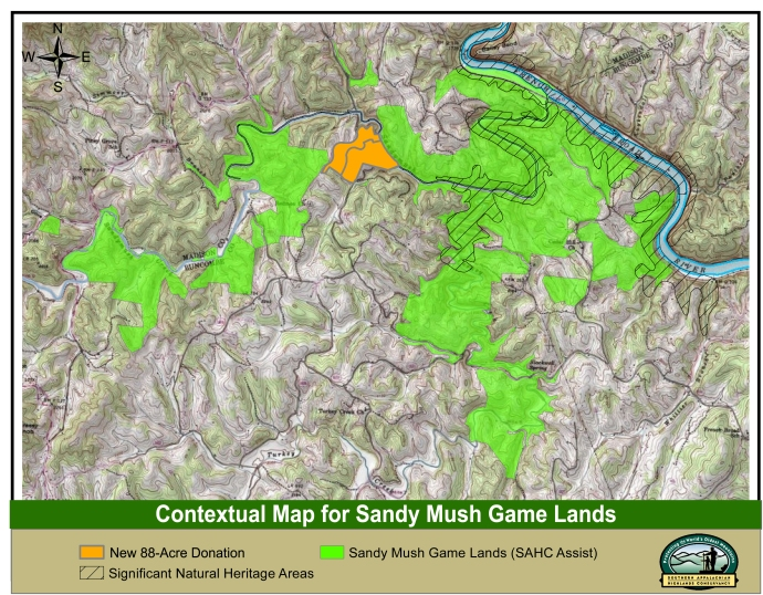 Sandy Mush Game Lands Contextual Map