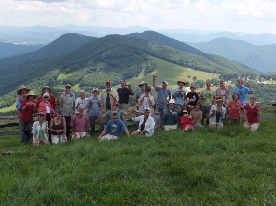Cataloochee Volunteer Group at Hemphill Bald.