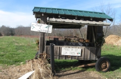 Self-service stand at Flying Cloud Farm, located just off the scenic byway.