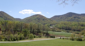 Preservation of Ferguson Knob, center, is complete with this project.