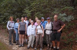 Fall 2012 hike group - an intrepid bunch of hikers who explored Blue Ridge Pastures after dusk.