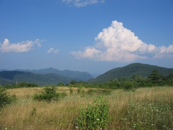 Hickory Nut Gorge, viewed from Blue Ridge Pastures.
