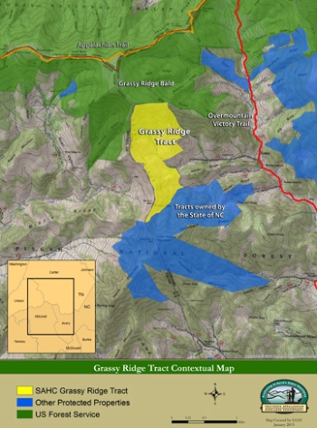 The Grassy Ridge tract forms an important corridor between National Forest lands to the north and NC state-owned protected land to the south.